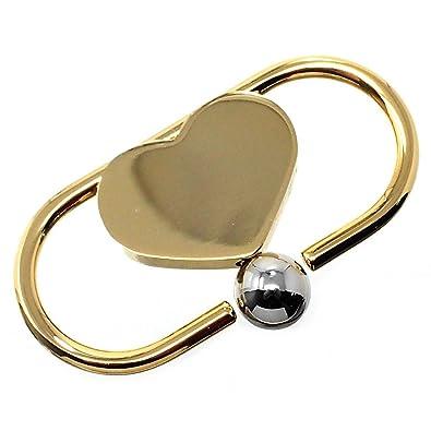 Llavero metal dorado 5.5cm. corazón [AB6034]: Amazon.es: Joyería