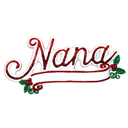 cf9f0f4a6 Amazon.com: Ornaments by Elves Personalized Nana Christmas Ornament ...