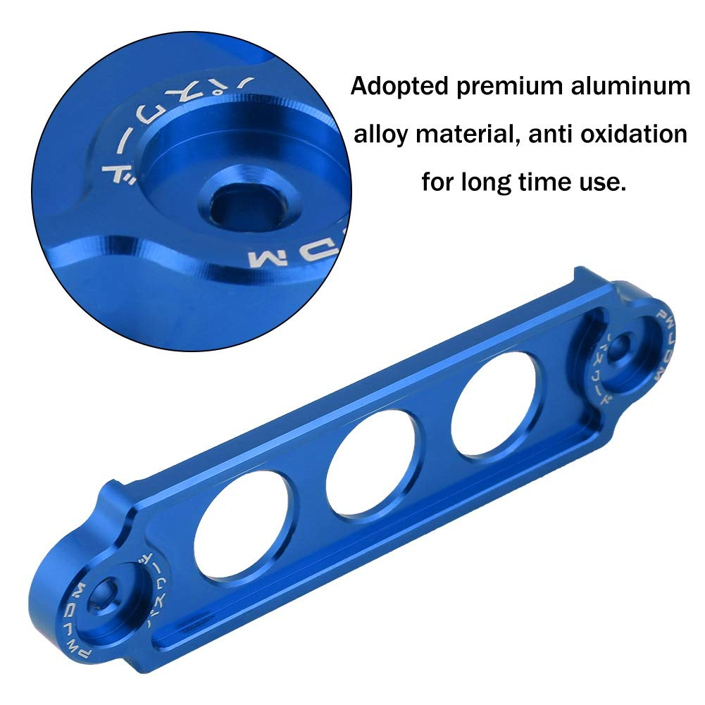 Acouto Car Racing Battery Tie Down Hold Bracket Lock Anodized for HONDA CIVIC//CRX 1988-2000 Aluminum alloy silver