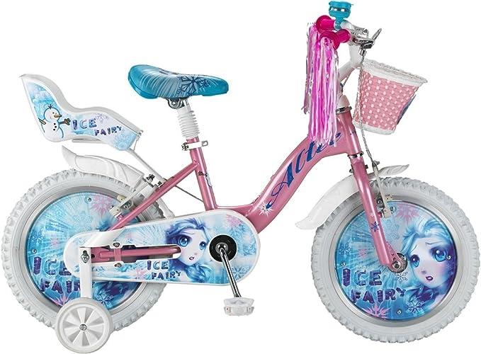 Bicicleta Infantil Niña Altec Ice Fairy 16 Pulgadas Freno Delantero al Manillar y Trasero Contropedal Cesta y Porta Muñecas Rosa 85% Montada: Amazon.es: Deportes y aire libre