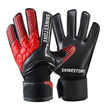 5abac20771832 Shinestone Goalkeeper Goalie Gloves, Youth Adult Kids Soccer Football  Goalkeeper Goalie Gloves with Strong Grip and Finger Protection to Prevent  ...