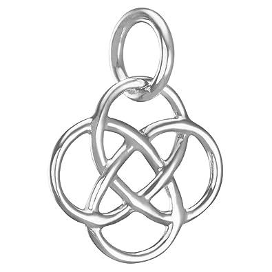 Vinani Anhanger Buddha Knoten Klein Glanzend Sterling Silber 925