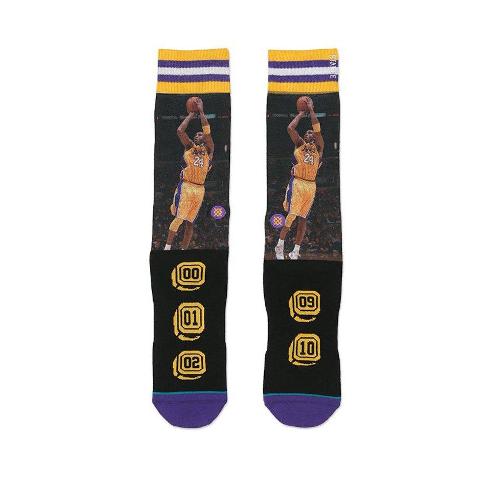 fb4a3f74125c Amazon.com  Kobe Bryant Los Angeles Lakers Stance Men s Mamba 24 Purple  Socks MD  Clothing