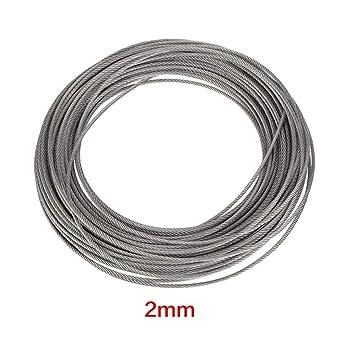 Alambre de acero inoxidable, cuerda de acero 1Pc 20m 304 ...