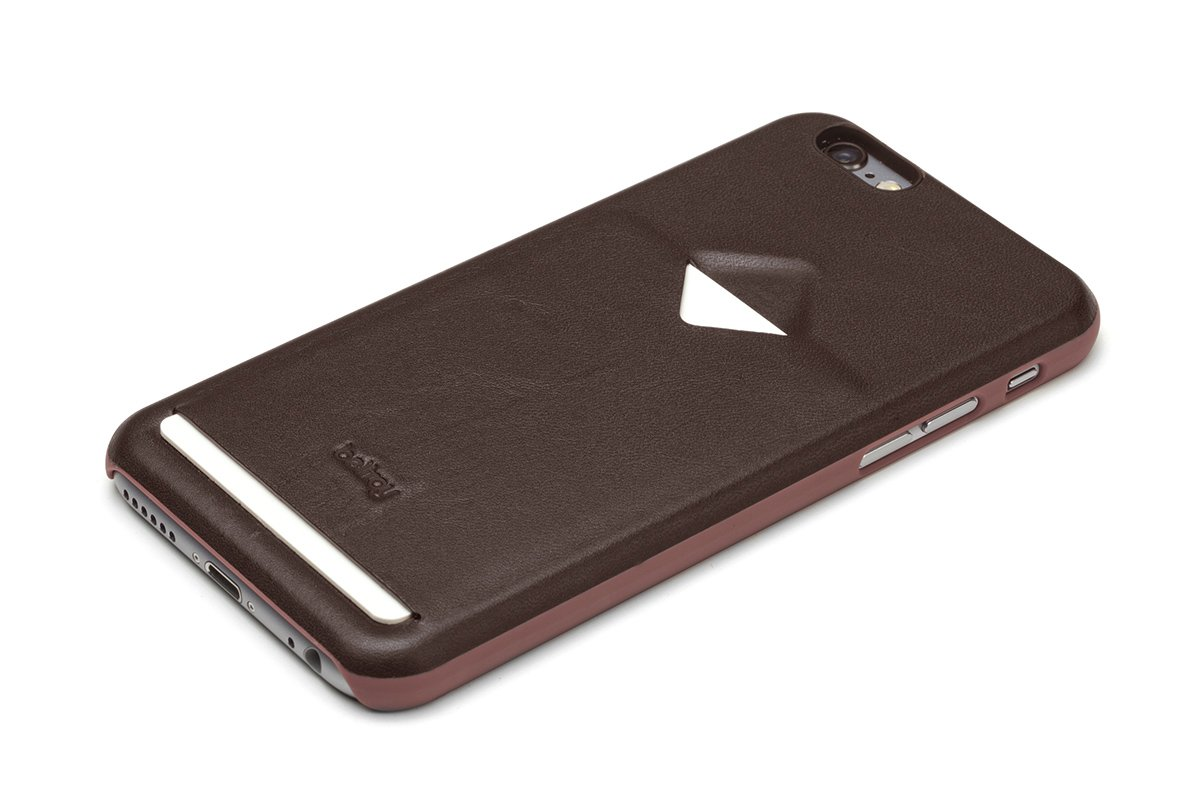 Bellroy Phone Case with Card Holder for iPhone 6 (Leather iPhone Wallet, Holds 1 Card, Slim Profile) - Java
