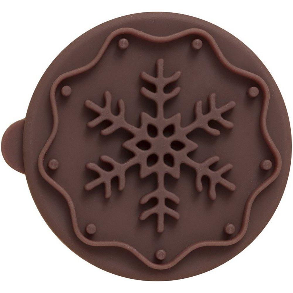 Plätzchen-Stempel Snowflake 7 cm Birkmann 340282