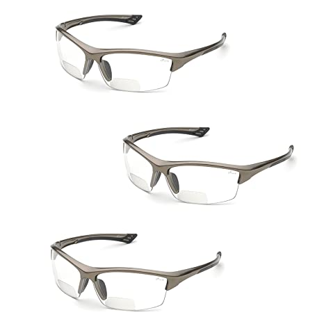 4f74b3388b Elvex RX-350 Diopter Safety Glasses (3 Pair) (2.0 Clear Lens) - - Amazon.com