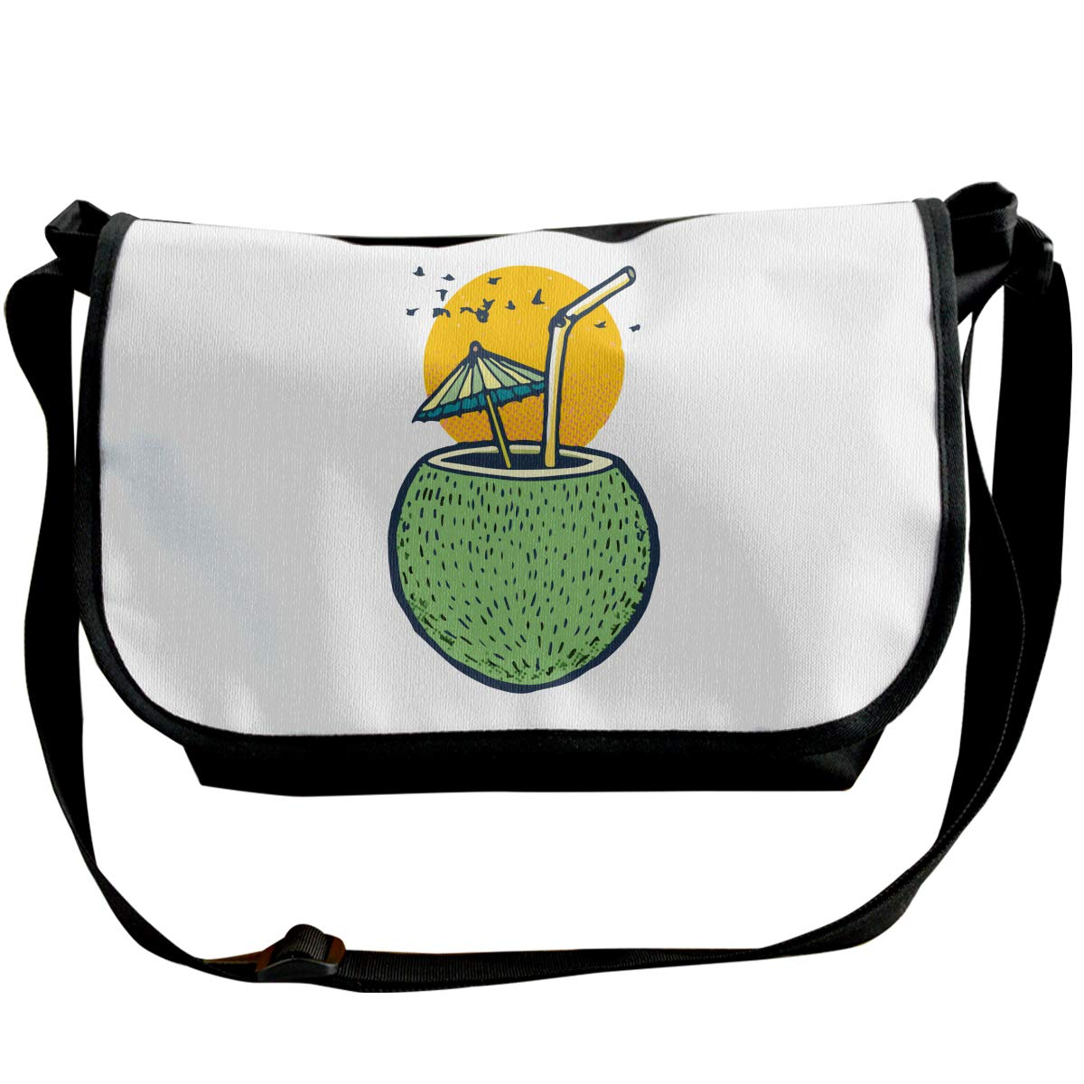 Sunset Beach Fresh Coconut Water Unisex Cross Body Bags Classic Messenger Bag
