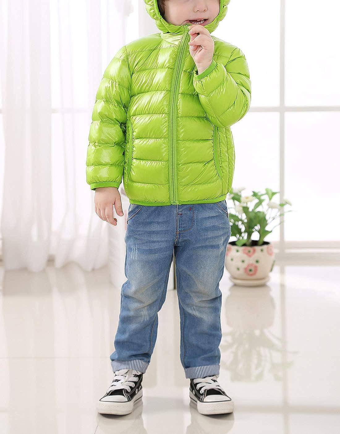 Happy Cherry Kids Down Jacket Ultra Light Thicken Warmth Outerwear Children Winter Outfits
