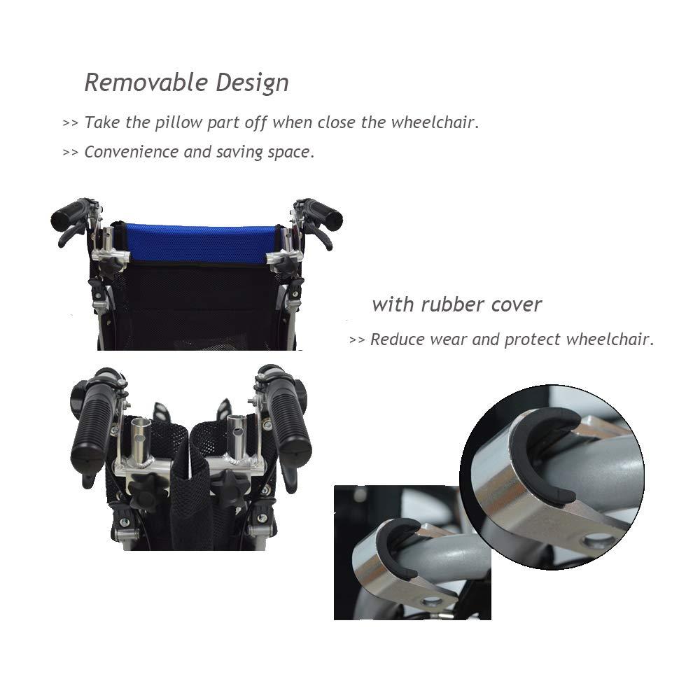 Reposacabezas para silla de ruedas, acolchado ajustable y portátil para adultos, accesorios para silla de ruedas de viaje de 40 a 50 cm, color negro: ...