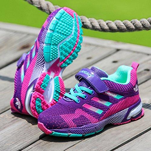 Dayiss Unisex - Kinder Jungen Mädchen Sneaker Halbschuhe Laufschuhe Sportschuhe Turnschuhe Freizeitschuhe Lila