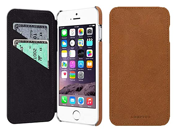 Amazon Com Leather Iphone 6 Case Adopted Genuine Leather Flip