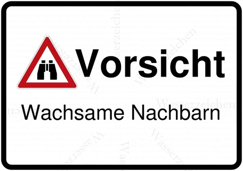 2St/ück!Aufkleber-Folie Wetterfest Made IN Germany Achtung Warnung Vorsicht Wachsame Nachbarn S494 UV/&Waschanlagenfest-Auto-Vinyl-Sticker Decal Profi Qualit/ät DigitalSchnitt 10cm