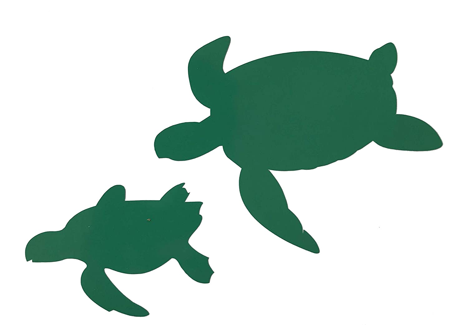 Beach Bumper Sticker Cooler or Car Windows Turtle Sticker Custom Mother and Baby Sea Turtle Vinyl Decal For Laptops