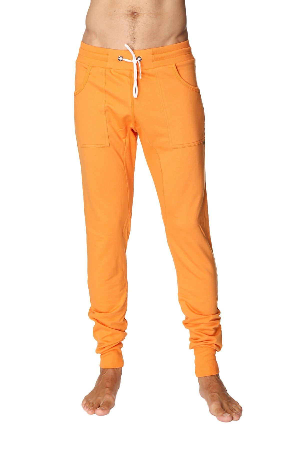 4-rth Men's Long Cuffed Perfection Yoga Pant (Medium, Sun Orange) by 4-rth