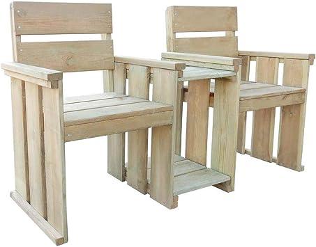 Mesa de porche genérica o de patio, mesa de café, banco de jardín para sofá de dos plazas, sillas de madera para exteriores, patio, porche, jardín, Loveseat: Amazon.es: Electrónica