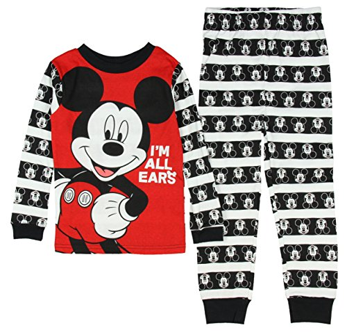 Disney Mickey Mouse Little Boys Toddler Long Sleeve Pajama Set (3T)