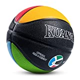 "Kuangmi Olympic Colors Basketball Size 4,5,6,7 for Child Boys Girls Youth Men Women (Child size 4(25.5""))"