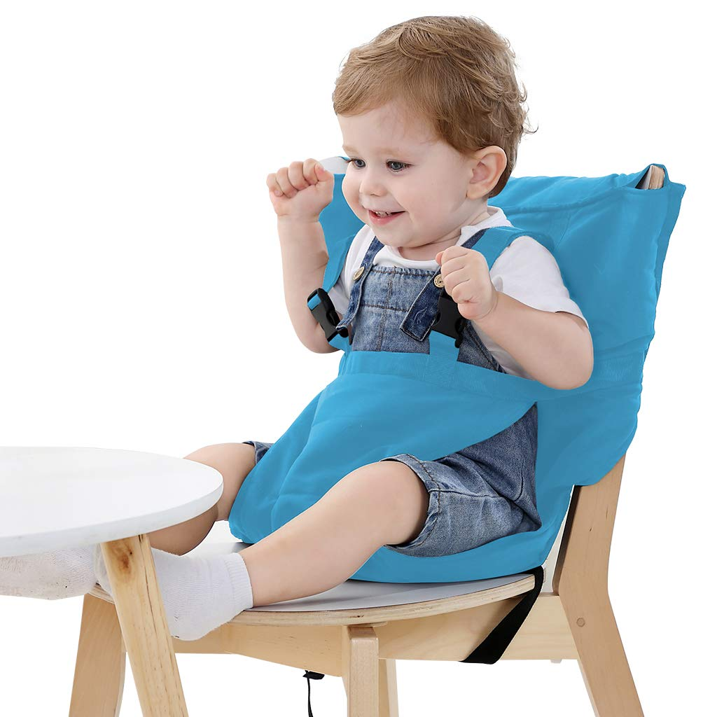 Magnificent Portable Travel High Chair Cover Baby Easy Seat Safety Washable Cloth Harness With Adjustable Straps For Infant Toddler Feeding Light Blue Ocoug Best Dining Table And Chair Ideas Images Ocougorg
