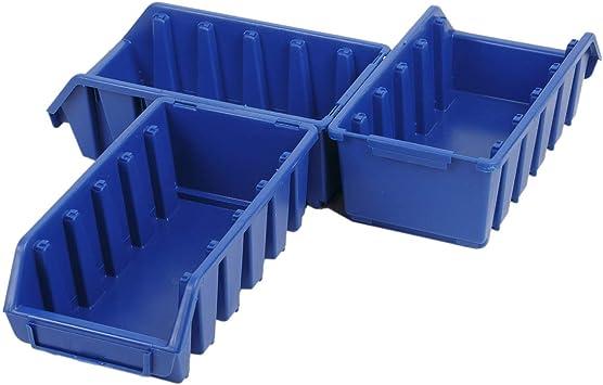 3 cajas de almacenamiento azules, cajas de almacenaje, cajas de taller, cajas apilables: Amazon.es: Bricolaje y herramientas