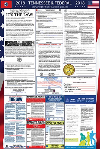 2018 Tennessee and Federal Labor Law Poster Laminated by Complete Law Posters