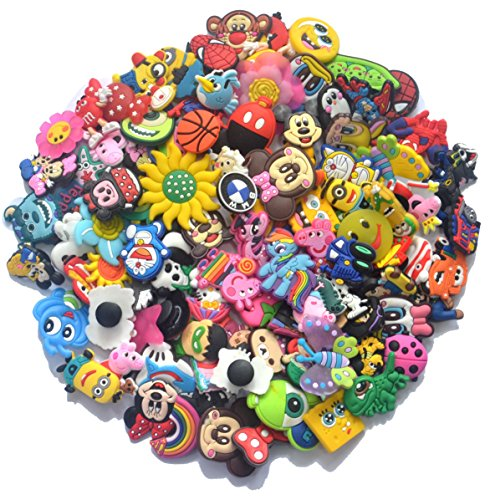 YAOYAO Different 100 Pcs PVC Shoe Charms for Croc & Jibbitz Bands Bracelet Wristband From US
