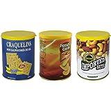 HMF 1722917 Dosensafe Geldversteck Potato Chips, Craguelins, Imported Nuts, farblich sortiert, 11,3 x 8,5 cm