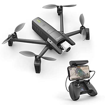 Parrot PF728000 Anafi Drone, Foldable Quadcopter Drone with 4K HDR Camera,  Compact, Silent & Autonomous, Realize Your shots with A 180° Vertical