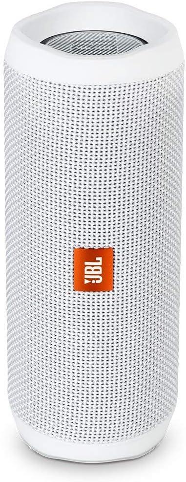 Jbl Flip 4 Bluetooth Box In Weiß Wasserdichter Tragbarer Lautsprecher Mit Freisprechfunktion Sprachassistent Bis Zu 12 Stunden Wireless Streaming Mit Nur Einer Akku Ladung Audio Hifi