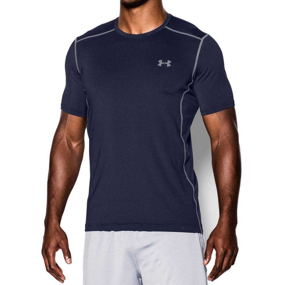 Under Armour Men's Raid Short Sleeve T-Shirt, Midnight Navy (410)/Steel, Medium
