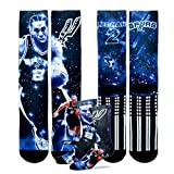Support one of the best players in the NBA, Kawhi Leonard, by wearing a pair of these brand new and one of a kind player socks by For Bare Feet. These socks will feature an action shot of the player on both the front and the back, the front w...