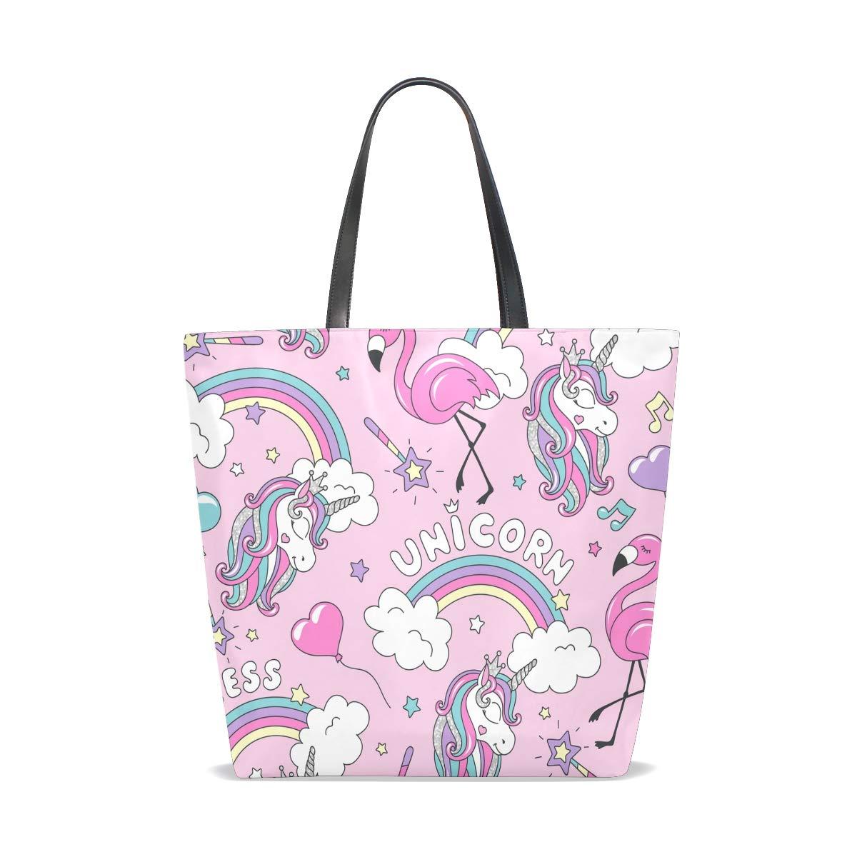 Hengpai enhörning magisk häst fantasi djur flicka tygväska handväska axelväska för kvinnor flickor Multi19