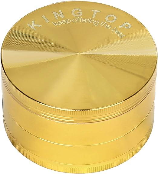 Kingtop Herb Spice Grinder Large 3.0 Inch Rose Gold