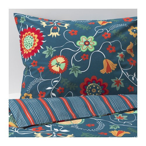 Ikea Rosenrips Duvet Cover and Pillowcases, Full/queen, Floral Multi-colored