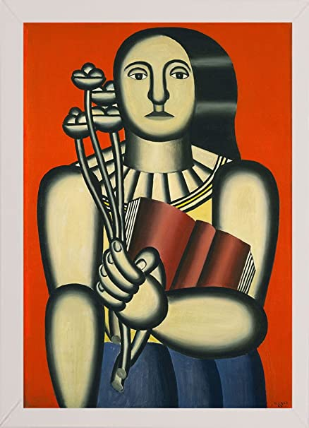 amazon com fernand léger woman with a book vinapp123640 framed