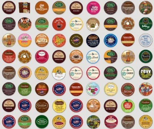 30 Count - Regular Coffee, Flavored Coffee, Decaf Coffee, Tea, Hot Cocoa, Ciders, Brew Over Ice Variety Sampler K Cups for Keurig Brewers - 30 Different K Cups Guaranteed from green mountain, caribou, barista prima, van houtte, donut house, celestials, timothy's, tully's etc, Garden, Lawn, Maintenance (Brew Over Ice Keurig compare prices)