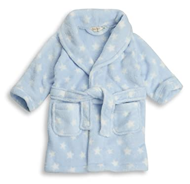 72443f3d9d5b5 BABYTOWN Baby Girls Boys Star/Heart Fleece Dressing Gown Robes Super Soft  Cosy (12