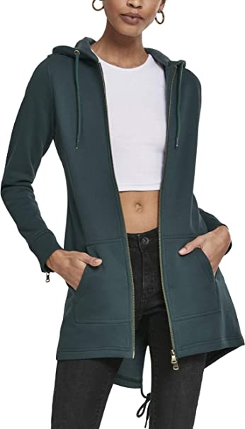 Urban Classics Damen Classic Zip Hoody Strickjacke
