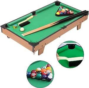 Mesa de billar Mini mesas de Billar Mini Mesa para Niños Hogar Juegos Geniales Juguetes para Niños Y Niñas Regalos De Cumpleaños (Color : Green, Size : 69.5 * 37 * 13.5cm): Amazon.es: Hogar