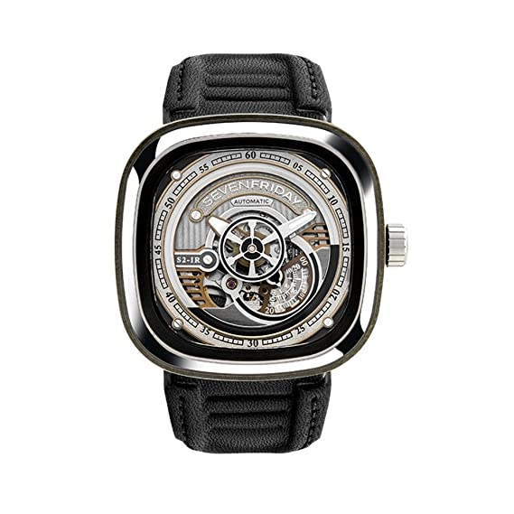Seven Friday S-Series Reloj de hombre automático 47mm correa de cuero S1-02: Amazon.es: Relojes