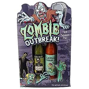Amazon.com : Zombie Outbreak Hot Sauce Gift Set : Grocery ...
