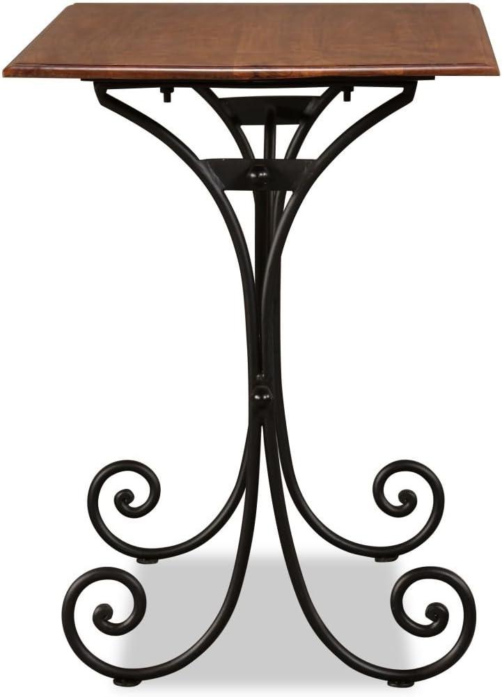 Festnight Table de Salle /à Manger Style Industriel en Bois et Finition en Sesham 110x60x77 cm