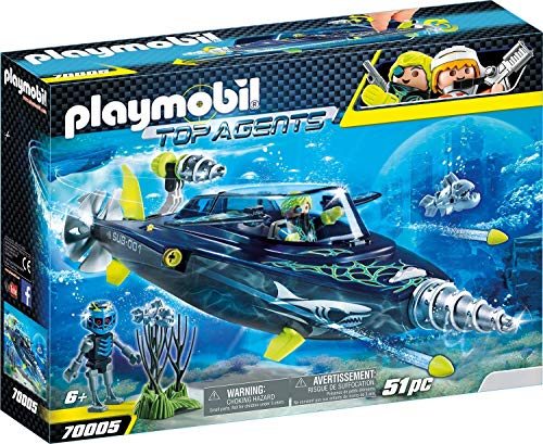 PM Playmobil Team Shark Drill Destroyer Top Agents
