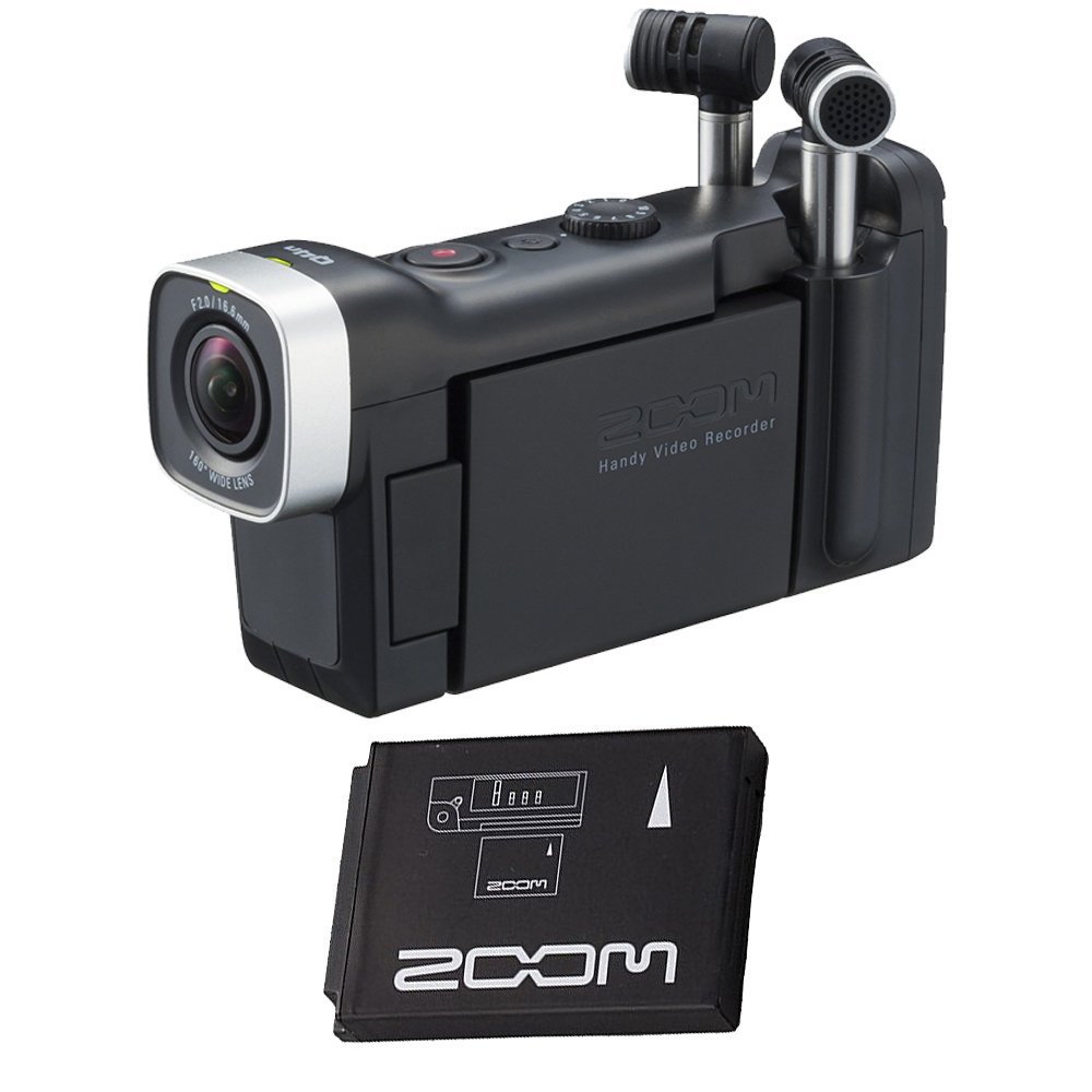 Zoom Q4n Handy Video Recorder with BT-02 Rechargeable Battery For Zoom Q4
