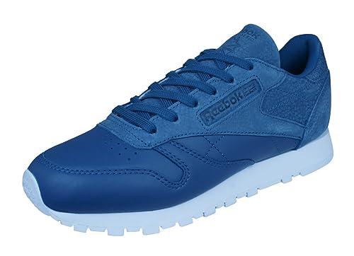 Reebok Mujeres Calzado / Zapatillas de deporte Classic Leather Sea You Later: Amazon.es: Zapatos y complementos
