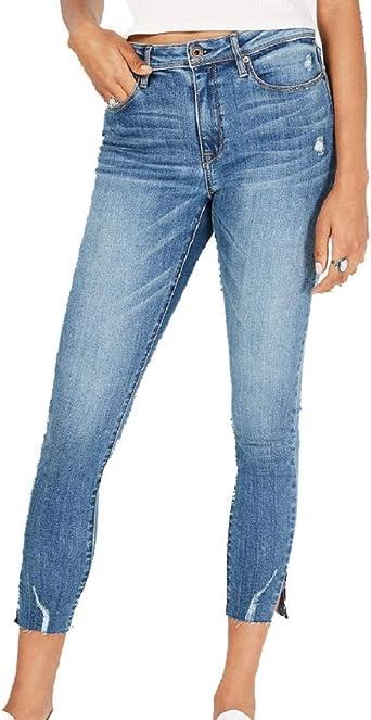 American Rag Juniors Mid-Rise Razor Raw-Hem Skinny Jeans