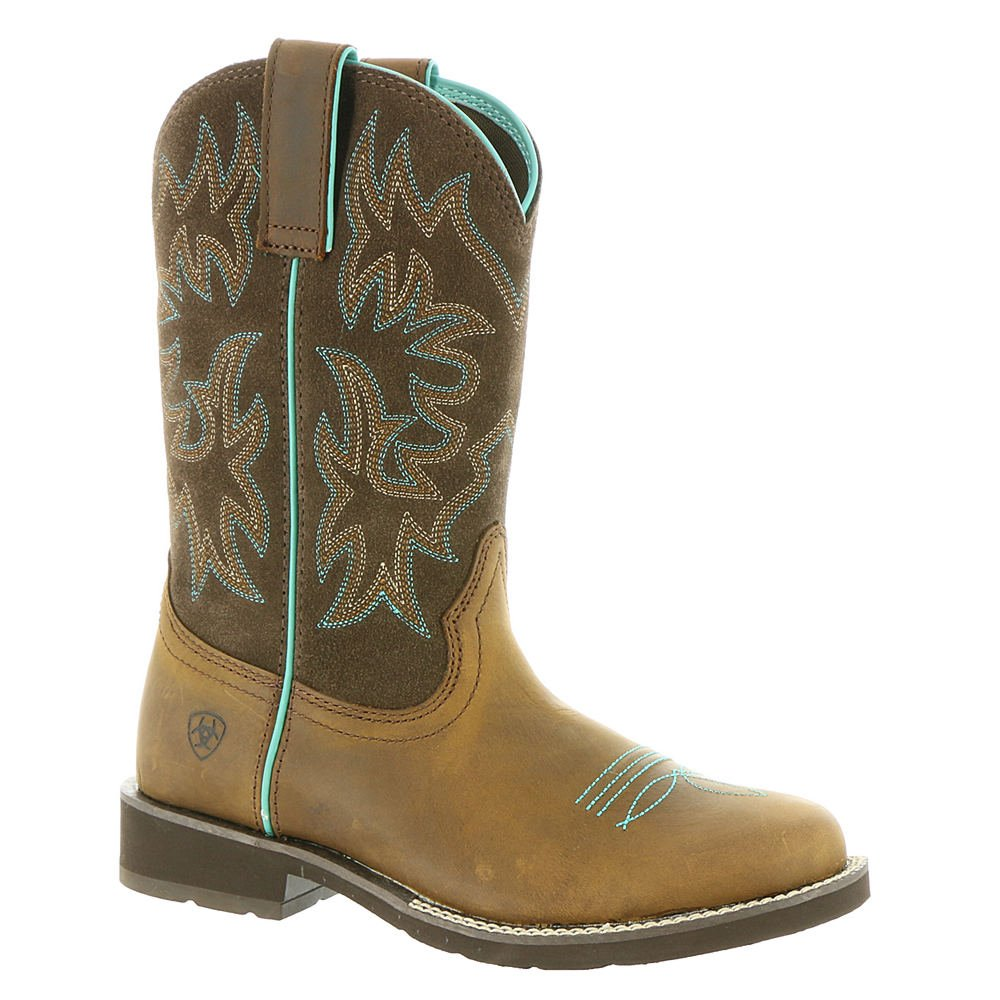 Ariat Women's Delilah Round Toe Work Boot, Distressed Brown, 9 B US