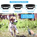 DELOMO Dog Shock Collar, Dog Training Collar with Remote, IP67 Waterproof Electric Collar for Dogs with 3 Training Modes, 550 Yard Remote Range Dog Training Collars
