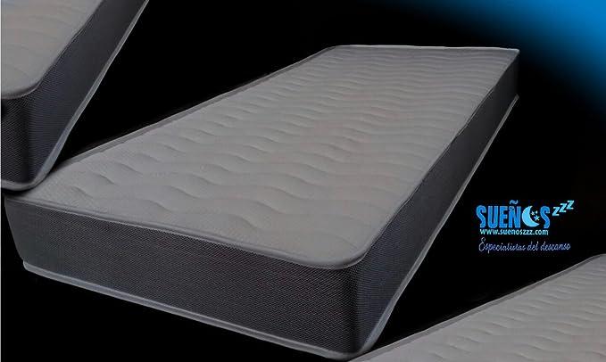SUENOSZZZ - Colchón Viscoelástico Memory Fresh. 90x180x15+1 Cms. Strech Memory Form.: Amazon.es: Hogar