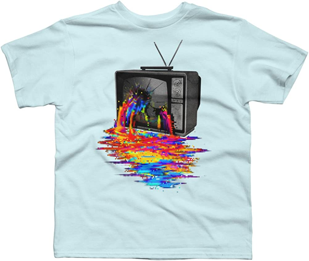 Design By Humans Pixel Overload Boys Youth Graphic T Shirt